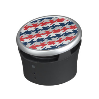 Red White Navy Blue New England Football Colors Bluetooth Speaker