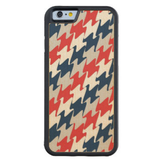 Red White Navy Blue New England Football Colors Carved® Maple iPhone 6 Bumper Case