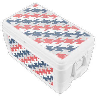 Red White Navy Blue New England Football Colors Chest Cooler