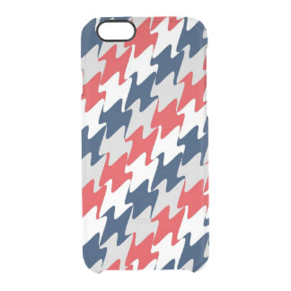 Red White Navy Blue New England Football Colors Clear iPhone 6/6S Case