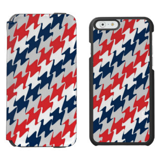 Red White Navy Blue New England Football Colors Incipio Watson™ iPhone 6 Wallet Case