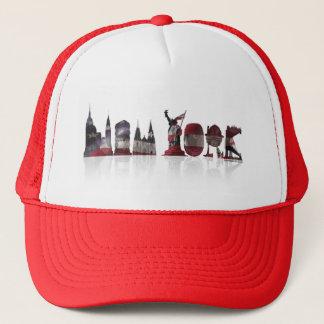 Red/White New York Trucker Hat