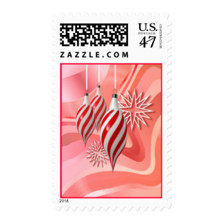 RED & WHITE ORNAMENTS by SHARON SHARPE Stamp