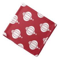 red white paper lanterns oriental pattern bandana
