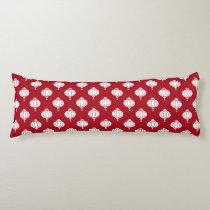 red white paper lanterns oriental pattern body pillow