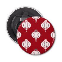 red white paper lanterns oriental pattern bottle opener