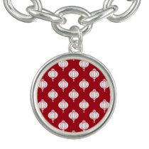 red white paper lanterns oriental pattern charm bracelets