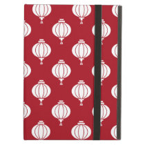 red white paper lanterns oriental pattern iPad air cover