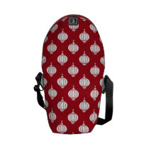 red white paper lanterns oriental pattern messenger bag