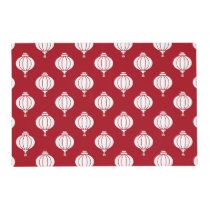 red white paper lanterns oriental pattern placemat