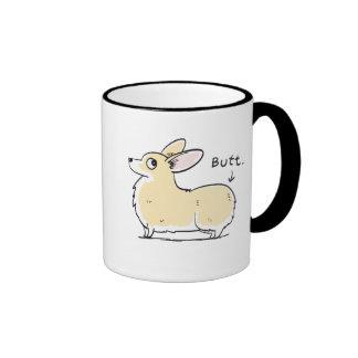 Red/White Pembroke Corgi Butt Mug
