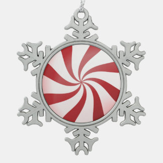 Red & White Peppermint Candy Snowflake Ornament