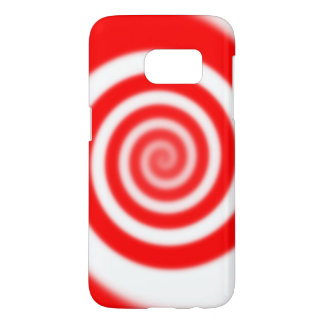Red & White Peppermint Candy Swirl Samsung Galaxy S7 Case