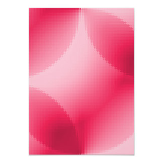 """RED WHITE PINK CANDY GLASS TILES BACKGROUNDS TEMPL 5"""" X 7"""" INVITATION CARD"""