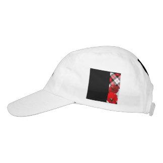 red white plaid-black headsweats hat