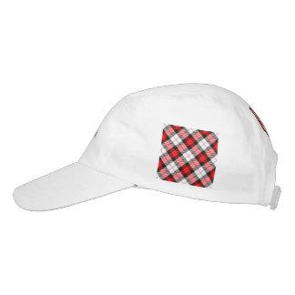 red white plaid headsweats hat