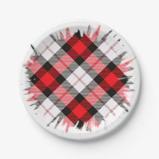red white plaid paper plate  sc 1 st  Zazzle & Red Check Plates   Zazzle