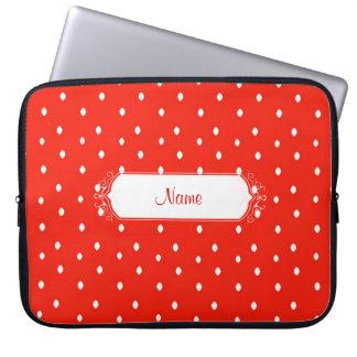 Red & White Polk-Dot Laptop Sleeve
