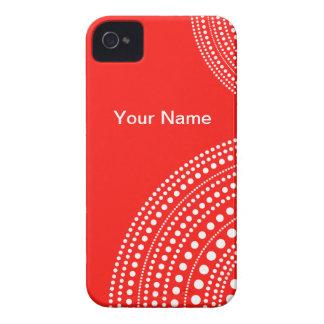 Red White Polka Dot Blackberry Case