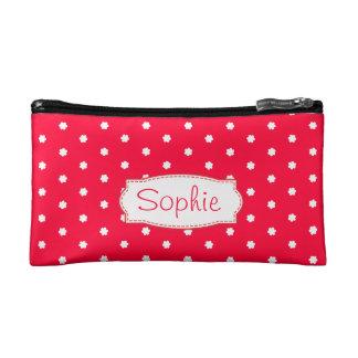 Red & white polka dot flowers named small bag