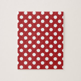 Red White Polka Dot Jigsaw Puzzle