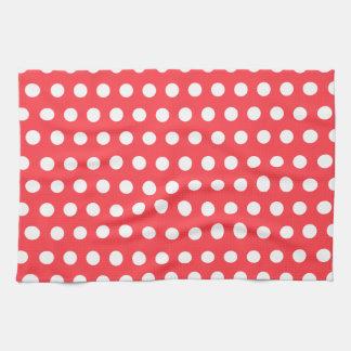 Red White Polka Dot Kitchen Towel