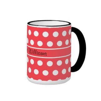 Red White Polka Dot Mug Mugs