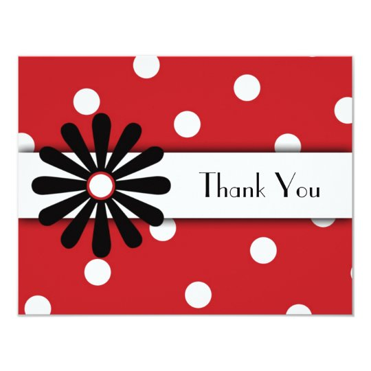 Red & White Polka Dot Note Card