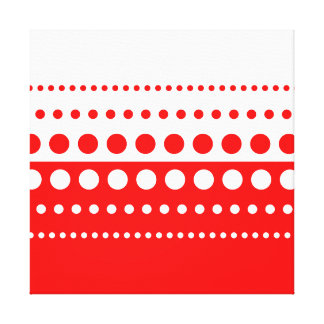 Red White Polka Dot Pattern Canvas Print