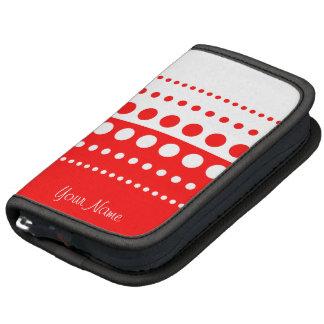 Red White Polka Dot Pattern Sleeves Planner