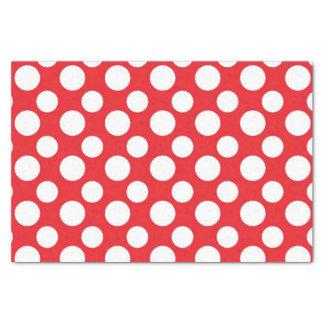 """Red white polka dot pattern tissue paper 10"""" x 15"""" tissue paper"""