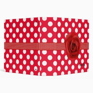 Red & White Polka Dot Stylish Binder