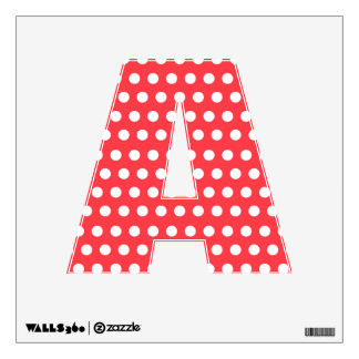 Red White Polka Dot Wall Decal