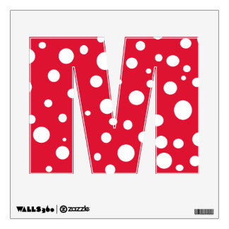 Red White Polka Dots Alphabet Letters Wall Decal