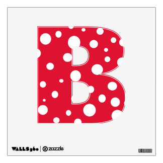 Red White Polka Dots Alphabet Letters Wall Decal B