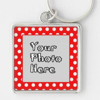 Red & White Polka Dots Keychain
