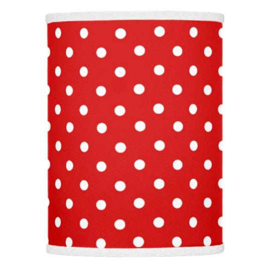 Red white polka dots lamp shade zazzle red white polka dots lamp shade aloadofball Choice Image