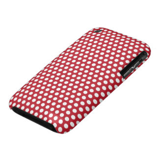 Red & white polka dots pattern iphone 3G case mate