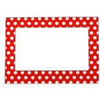 Red White Polka Dots - Picture Magnetic Frame