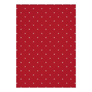 Red & White Polka Dots Poster