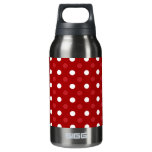 Red white polka dots 10 oz insulated SIGG thermos water bottle