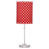 Red White Polka Dots Table Lamp