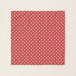 """Red & white polkadot pattern square chiffon scarf<br><div class=""""desc"""">Trendy red and white polkadot pattern square chiffon scarf. Elegant transparent scarves for women and girls. Available in different sizes, colors and shapes. Classy Birthday and Holiday gift idea for ladies. Create unique polka dot patterned scarves for yourself, wife, friend, coworker, wedding bride, mom, sister, daughter, bridesmaids etc. White polkadotted...</div>"""