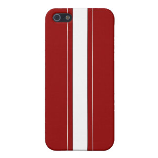 Red & White Racing Stripes Case For iPhone SE/5/5s