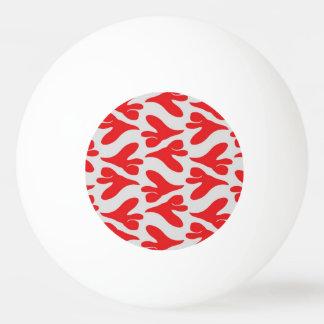 Red white red Pattern TARA Ping-Pong Ball