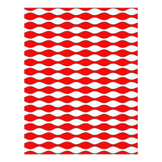 red white red Pattern Waves Letterhead Template