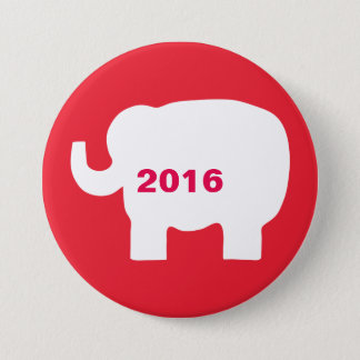 Red White Republican Elephant 2016 Election Button