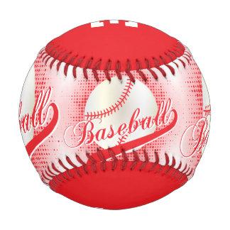 Red   White Retro Baseball Sports Baseballs