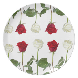 red&white roses plate. plate