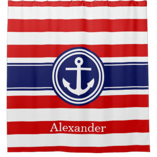 Red White And Blue Shower Curtains Zazzle